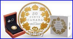 Canada 1917 2017 Half Dollar 50 Cents 2 Oz Silver Coin Masters Club