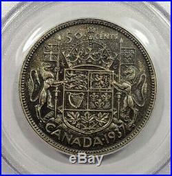 Canada 1937 Specimen Silver 50 Cents PCGS SP65 Matte Coin