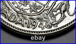 Canada 1946 Design Hoof In 6 Variety Silver 50 Cents Half Dollar Coin