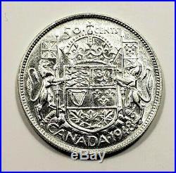 Canada 1948 Silver 50 Cents Half Dollar Coin