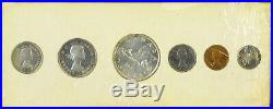 Canada 1955 Proof Like Coin Set 1.1 OZ Pure Silver Damaged Celophane Red Penny