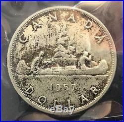 Canada 1957 Silver Dollar MS 65 ICCS Wonderful Original Coin