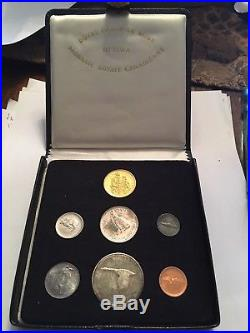 Canada 1967 Box Proof Set of 7 Coins, With 4 Silver Coins+ 0.53oz Gold Coin