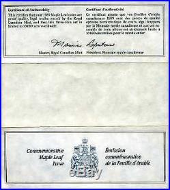 Canada 1979-1989 Proof Commemorative Maple Leaf Gold Silver Platinum 3-Coin Set