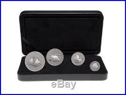 Canada 2004 9999 Fine Silver 4 Coin Set Arctic Fox Proof Tax Exempt RCM