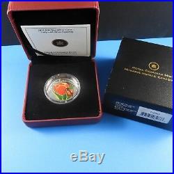 Canada 2011 $20 Fine Silver Coin TULIP with LADYBUG Venetian Glass BOX & COA
