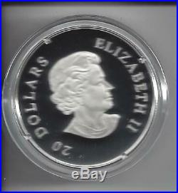 Canada 2011 Snowflake 7 Swarovski Emarld/Elements 20$ Pure Silver Proof Coin