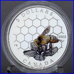Canada 2013 $3 Bee & Hive, Animal Architects Series #1, 1/4 oz Pure Silver Coin