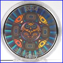 Canada 2014 $20 Interconnections Sea The Orca 1 oz. Pure Silver Hologram Coin