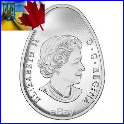 Canada 2016 20$ Traditional Ukrainian Pysanka Egg Shape 1oz Silver Coin