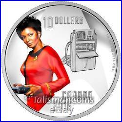 Canada 2016 Star Trek Crew Complete 4-Coin $10 Silver Set Kirk Spock Scotty Uhur