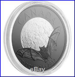 Canada 2017 20$ Nocturnal By Nature The Little Brown Bat 1 Oz Silver Coin 2