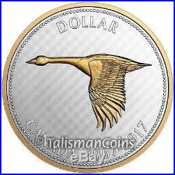 Canada 2017 Big Coins Goose Alex Colville 1967 Design $1 5 Oz Silver Wooden Case