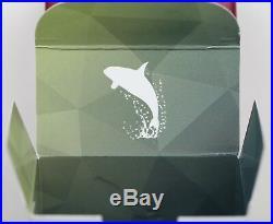 Canada 2018 $20 Geometric Fauna Orcas, 1 oz. Pure Silver Colored Proof Coin