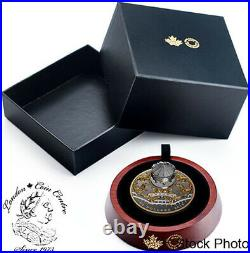 Canada 2018 $50 6 Oz Pure Silver Gold Plated Antique Carousel Coin