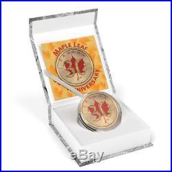 Canada 2018 5$ Maple Leaf 30th Anniversary 1 oz Gilded Silver Coin