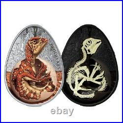 Canada 2019 $20 Dinosaur Hatching Hadrosaur Egg Shape 1oz Pure Silver Coin