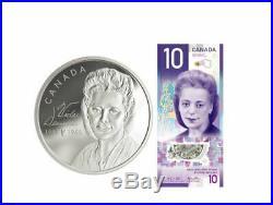 Canada 2019 $20 Viola Desmond Pure Silver Set $20 Coin + $10 Banknote Tax Exempt