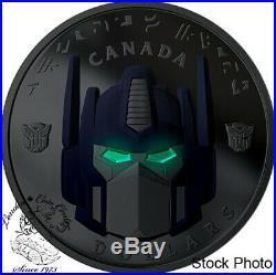 Canada 2019 $25 Transformers Optimus Prime Pure Silver Coin