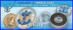 Canada 2019 5$ Maple Leaf ANCHOR 1 Oz Silver Coin of 500 pcs only PRESALE