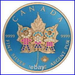 Canada 2019 5$ Maple Leaf Family Day 1 Oz Silbermünze. Geringe Auflage