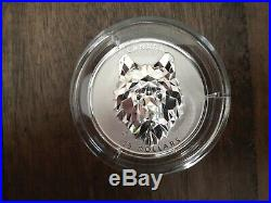 Canada 2019 Wolf Multifaceted Animal Head EHR $25 Silver Coin 1oz 99.99% Pure