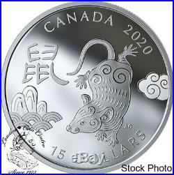 Canada 2020 $15 Year of the Rat 1 oz. Pure Silver Coin