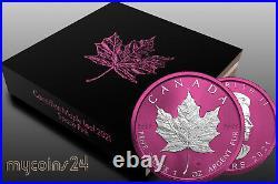 Canada 2021 $5 Maple Leaf SPACE PINK 1 oz