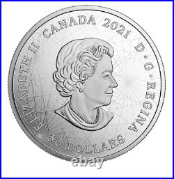 Canada 2021 5 oz Pure Silver Coin Lost Then Found Champlain and the Astrolabe