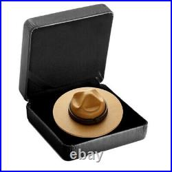 Canada $25 Dollars Silver Coin, Gold Plating, Classic Mountie Hat, 2021