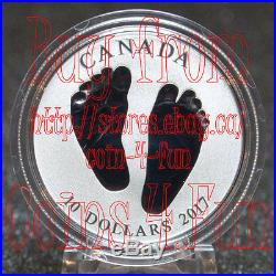 Canada Born in 2017 Welcome to the World $10 1/2 oz Pure Silver Coin Baby Feet