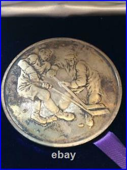 Canada Vs Ussr 1972 Hockey Canada Sterling Silver Coin Medallion Wellings E4256