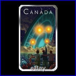 Canadian Silver Coin 2019 Unexplained Phenomenon Shag Harbor UFO w Black Light