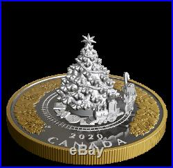Canadian Christmas Train 2020 Canada Coin Silver | Christmas Train (2020) Interactive 5oz Silver