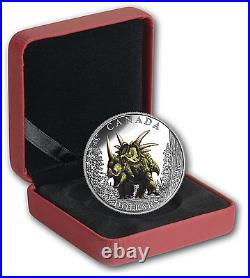 Dinosaurs Spiked Lizard $10 2016 Pure Silver Proof Colour Coin Canada