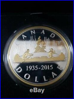 EXCLUSIVE Masters Club Voyageur+50-cent, 2oz Pure Silver with Gold-Plated Coin