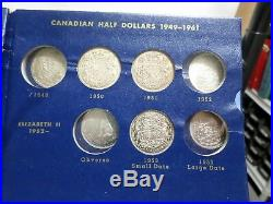 Estate Coin Collection 23 Old Canada Half Dollars (1940-1976) 17 are Silver