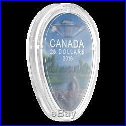 FALCON LAKE INCIDENT CANADAS UNEXPLAINED PHENOMENA 2018 $20 1 oz Silver Coin