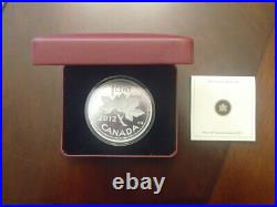 Farewell to the Penny 2012 Canada 1 cent 5 oz. Fine Silver Coin