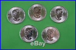 Five 1 OZ Pure Silver Superman's Shield Coins 2016