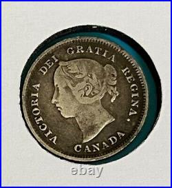 Foreign Silver Coins -Lot of 3, Canada -Newfoundland 1870-1900 VF (Key Dates)