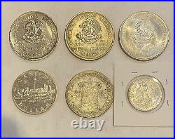 Foreign Silver Coins, Lot of 6, Lot #499, Mexico, Canada, Netherlands-High Grades