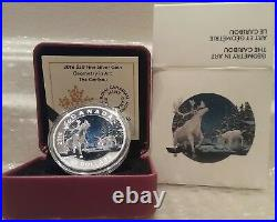 Geometry Art The Caribou $20 2016 1OZ Pure Silver Proof Canada Colour Coin