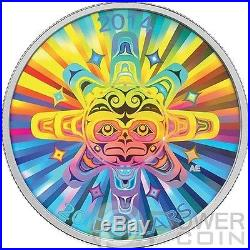 INTERCONNECTIONS Air Thunderbird Hologram Silver Coin 20$ Canada 2014