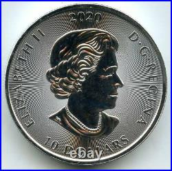 Kraken 2020 Canada 9999 Silver 2 oz Coin $10 Two Ounce Bullion Elizabeth MB456