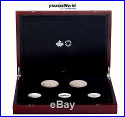 LEGACY OF THE PENNY SET-2017 NEW 5 Coin 7 oz Pure Silver Coin Set CANADA SOLDOUT