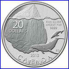 LOT OF 100 COINS! $20 for $20 Silver Coin Iceberg (2013) 99.99% SILVER