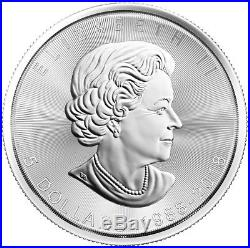 LOT OF 5 2018 Canada 1 oz Silver Maple Leaf 30th Anniversary $5 Coin GEM BU