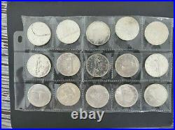 Lot Of 20 1958-1967 Canada Silver 1$ One Dollar Coins Silver