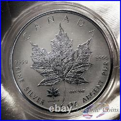 Lot Of 2 2017 1 Oz Pure Silver Maple Leaf Reverse Proof Coins In Capsules